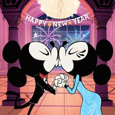 First kiss of the New Year! 🎆Who do you want to 😘at midnight? Mickey And Minnie Kissing, Mickey Mouse Shorts, New Mickey Mouse, Mickey And Friends, Mickey Minnie Mouse, Mickey Cartoons, Snoopy Cartoon, Mickey Mouse Pictures, Walt Disney Pictures
