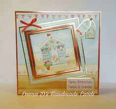 Hunky Dory, Happy Anniversary, Handmade Cards, Thank You Cards, Seaside, Decoupage, Card Ideas, Projects To Try, Card Making