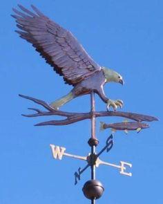 Bald Eagle Hunting Fish Weathervane - Optional Gold Leafing