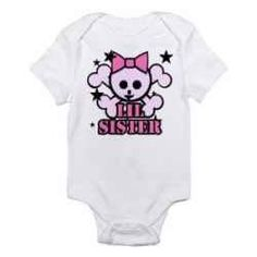 Skull baby girl clothes: edgy yet feminine rock n' roll fashion for your little punk rock princess.
