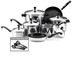 Farberware Classic Stainless Steel 15-Piece Cookware Set Farberware,http://www.amazon.com/dp/B00006IFQH/ref=cm_sw_r_pi_dp_FgLOsb10WCS609B8