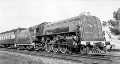 c.1937 Adelaide Parklands - 620 on passenger train (Lionel Kingsborough) 620-class 4-6-2 broad gauge steam locomotive built by South Australian Railways at the Islington Workshops.