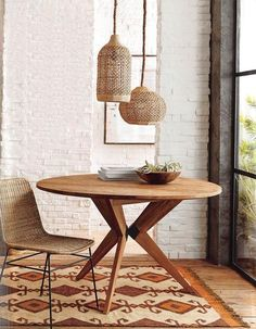 Simplicity defines this stylish Rattan Dining Chair from Roost. The simple lines and woven design of the Chair adds to its versatility. Iron legs support the sustainable rattan seat.