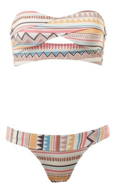 Geometric print bikini. I want this.