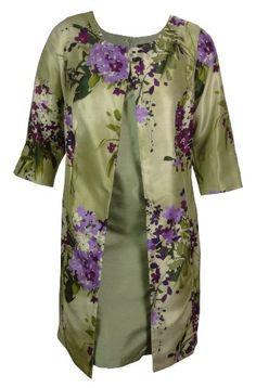 Tiana B Women's Dupioni Printed Jacket & Dress Set