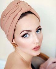 women headkerchief bow Turban Hat Stylish Chemo cap detachable bowknot