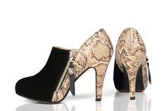 Aliexpress.com: Купить Мода змеиной текстуры 2014 новая весна круглый носок заклинание цвет классический из натуральной кожи женская туфли на высоком каблуке женская туфли на высоких каблуках из Надежный ботинки ёенщин коёа поставщиков на Glamor Trend