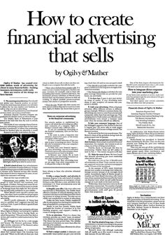 Series of print ads that Ogilvy & Mather Direct published in the 1960s and 1970s.    The O & M  house ads were created to attract new clients and new business, and demonstrated David Ogilvy's magic lantern in action.    The magic lantern revealed all the principles, techniques and takeaways the agency discovered through its advertising campaigns.     via: http://www.infomarketingblog.com