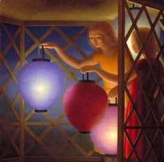 George Tooker, magical realist in a regionalist style that's so evocative.