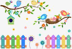 OS pássaros no galho, O Pássaro, Ramos, Ninho De PássaroPNG e Vector