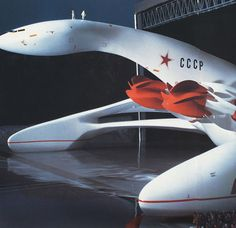 "Giant Flying Boat (Ekranoplan) ""The Lida"", design 1983 by Luigi Colani"