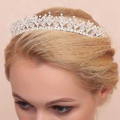 Gorgeous Alloy Wedding Bridal Tiara/ Headpiece – USD $ 36.99