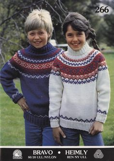 The Svanedal sweater for children Norwegian Knitting, Cardigan Pattern, Knitting For Kids, Vintage Knitting, Vintage Sweaters, Clothing Patterns, Knitwear, Knitting Patterns, Turtle Neck