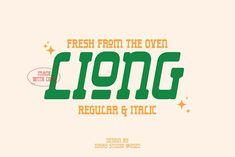 Liong - 2 Fonts Styles by Dikas Studio on @creativemarket