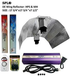 SPL Horticulture Stdewk 1000 Hydroponic 600w Watt Grow Light Digital Dimmable HPS Mh System for Plants Double Ended Wing Reflector Hood Set *** Be sure to check out this awesome product.