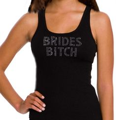 The perfect MOH or Bridesmaid Tank top --SALE $16.99!  A double row of rhinestones, on a cotton rib tank top from American Apparel, at an AMAZING PRICE!  Plus, this tank is available in 3 COLORS in sizes Small- 2XL!  The perfect Bridal Shower or Bachelorette Party Tanks are available exclusively at www.TheHouseofBachelorette.com