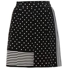 Stella McCartney Printed Silk Shorts (13 005 UAH) via Polyvore featuring shorts, black, stella mccartney shorts, silk shorts и stella mccartney