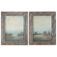 Morning Vistas Off White And Taupe Framed Art, Set Of 2 Uttermost Wall Art Wall Art Home D