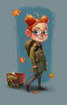 Girl Scout Margaret on Behance ★ Find more at http://www.pinterest.com/competing