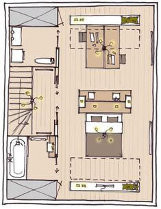 Furnishing the attic: sleeping, working or playing? Attic Bedrooms, Bedroom Loft, Facade Design, House Design, Studio App, Attic Remodel, Attic Spaces, Studio Apartment, Home Interior Design
