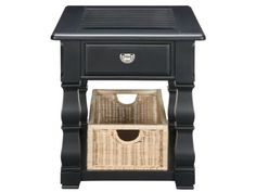 #AmericanSignaturePinToWin Plantation Cove Black End Table with Baskets - American Signature Furniture
