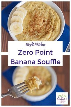 Weight Watchers Zero Point Banana Souffle A sweet zero Freestyle points breakfast or snack! This Weight Watchers Zero Point Banana Souffle recipe makes a hearty snack for you to enjoy with zero points and all whole ingredients. Weight Watcher Desserts, Weight Watchers Snacks, Petit Déjeuner Weight Watcher, Plats Weight Watchers, Weight Watchers Breakfast, Weight Watchers Smart Points, Weight Watchers Free, Weight Loss Meals, Weight Watchers Meatloaf