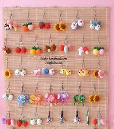 crochet beauty and cute key chains