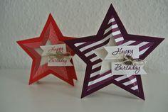 Geburtstagskarte mit den neuen Sternen-Framelits