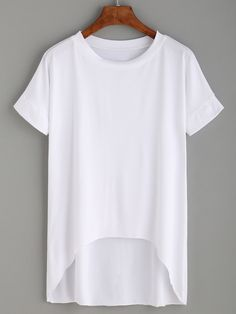 White High Low T-shirt Mobile Site