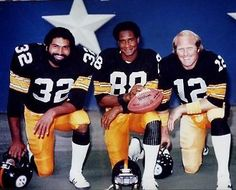 Franco Harris, Lynn Swann, and Terry Bradshaw - Pittsburgh Steelers