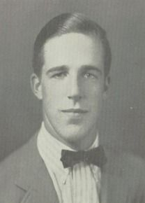 Actor Fred Gwynne (Herman Munster) in his 1944 yearbook at Groton School in Groton, Massachusetts.