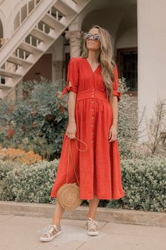 01e668c891a An Easy Trick for Making a Dress Feel More Casual for Everyday Wear