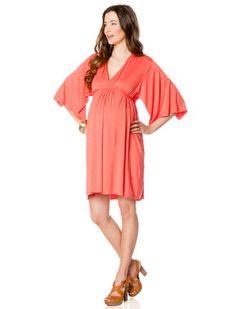 A Pea In The Pod Rachel Pally 3/4 Sleeve Dolman Sleeve Maternity Dress