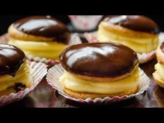 Greek Sweets, Greek Desserts, Greek Recipes, Candy Recipes, Dessert Recipes, Desserts With Biscuits, Boston Cream Pie, Small Cake, Food Design