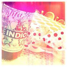 #INDIOlolita & polka dots #tiramisu > #kawaii! . Photo by me (@Oscar Aguilar) / #INDIO120s @Cerveza Indio #INDIObeer #Lolita #beer