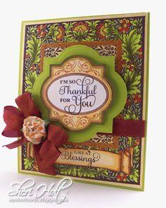 Floral Harvest Background Cling Stamp