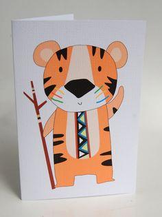 FEESTVARKEN-kaartTribal TigerGreeting Card
