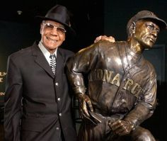 Buck O'Neil the first African American Coach in the Major League Baseball and also Negro League Legend.
