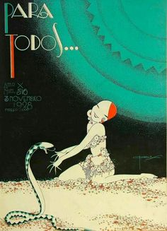 whisters:   1928 Art Deco Cover by J. Carlos For Para Todos Magazine.