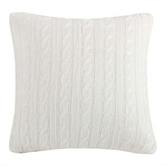 This soft, acrylic knit decorative pillow adds a soft, beautiful accent to your River Run bedding collection.