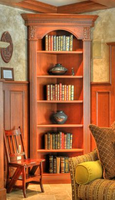 Cherry Wood :: Corner Hutch #cabinets #hutch Part 67