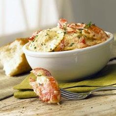 Maine Lobster Ravioli: Sweet Maine lobster meat is tucked between layers of semolina pasta for the ravioli, then topped with creamy Alfredo sauce and loaded with more big chunks of lobster meat. Lobster Recipes, Seafood Recipes, Pasta Recipes, Cooking Recipes, Healthy Recipes, Shellfish Recipes, Entree Recipes, Sauce Recipes, Healthy Meals