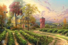 Abundant Harvest ~ Thomas Kinkade