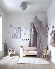 What a lovely little girl's room! Ooh Noo Toy Pram available online. Baby Bedroom, Nursery Room, Girls Bedroom, Bedroom Decor, Baby Decor, Kids Decor, Home Decor, Ideas Hogar, Little Girl Rooms