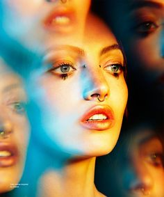 Fantastic makeup by Devra Kinery for Nylon. Jason Kim, Mac Lips, Digital Revolution, James White, Lip Piercing, Barbara Palvin, Photo Effects, Upcoming Events, Beauty Art
