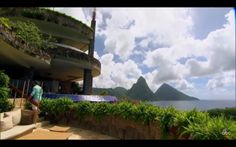 Take in the unique architecture and beautiful vistas at Jade Mountain - St Lucia Places To Travel, Places To See, Travel Around The World, Around The Worlds, Travel Sweepstakes, Jade Mountain, Tourist Board, Serenity Now, Saint Lucia