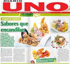 Nota de prensa en el Diario Uno para nuestro cliente la cadena de restaurantes Puerto Norte.