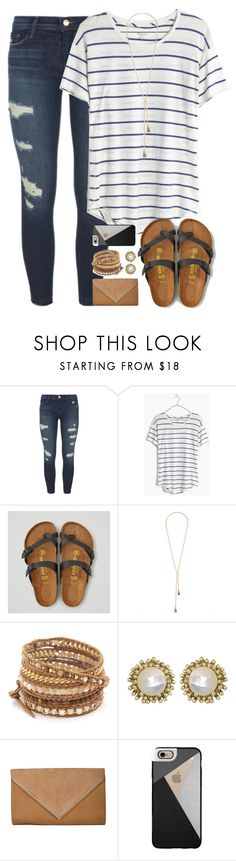 """""""alyssa!"""" by shannaolo ❤ liked on Polyvore featuring J Brand, Madewell, American Eagle Outfitters, Lulu*s, Chan Luu, Kendra Scott and Casetify"""