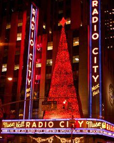 Radio City Music Hall, New York  At christmas