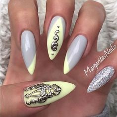 In seek out some nail designs and ideas for your nails? Here's our list of 23 must-try coffin acrylic nails for fashionable women. Fancy Nails, Love Nails, Trendy Nails, Stiletto Nails, Gel Nails, Acrylic Nails, Fabulous Nails, Gorgeous Nails, Flower Nails